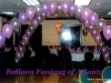 Pink/Silver/Blue Criss-Cross String-of-Pearl Balloon Arches